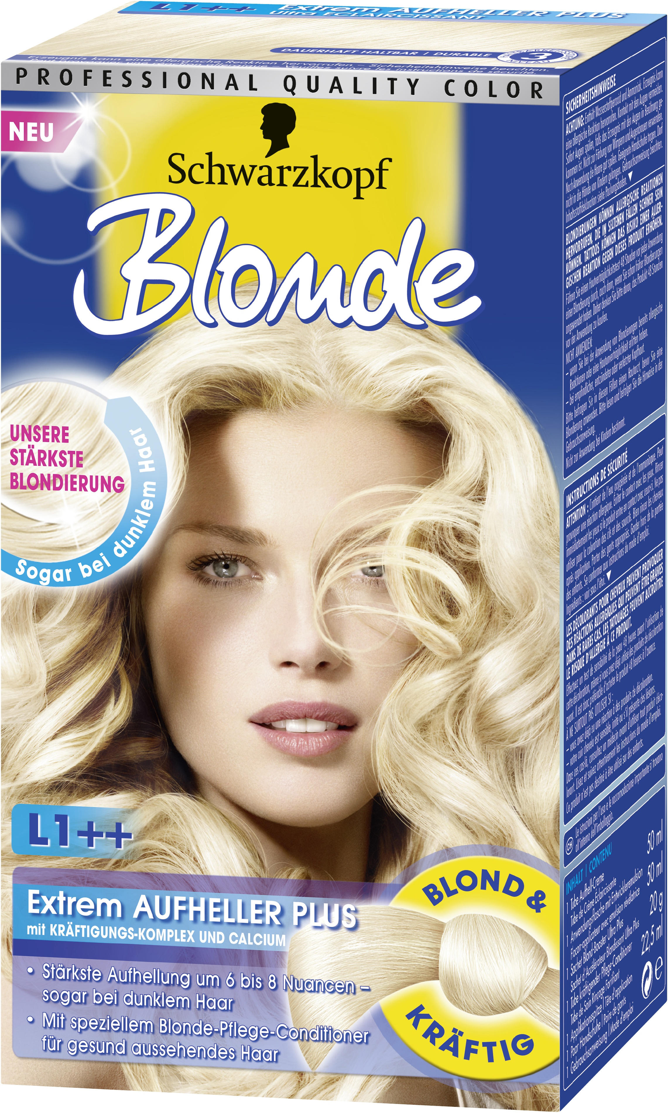 zweimal hintereinander blondieren